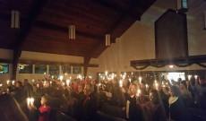 Gyertyafényes istentisztelet Wallton Hillsben
