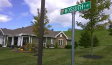 Kossuth utca a Bethlen Otthon nyugdíjas falujában
