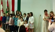A Kárpát Magyar Néptánccsoport gyerekei