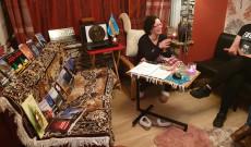 A Wass Albert felolvasó maraton helyszíne - Kádárné Szász Hilda chesteri közösségvezetőnél