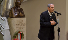 Varga János a Pázmáneum rektora, az ünnepség házigazdája