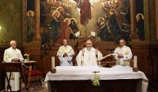 Makó Lajos atya, Bosák Nándor Debrecen-Nyíregyházi Egyházmegye nyugalmazott püspöke, Varga János rektor