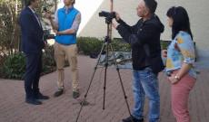 A Svájci Magyarház Alapítvány Televizó interjút készít Krahulcsán Zsolt történésszel Zürichben