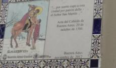 Tours-i Szent Márton mozaik képe a Katedrális falán
