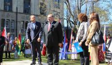 Horacio Garcia, Juan Sarrafian és az OIM, ACNUR képviselői