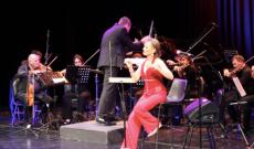 Illényi Katica a Buenos Aires-i koncert végén
