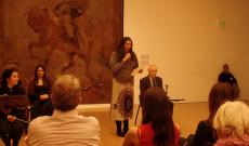 Dr. Székásy Miklós és Soledad Obeid a Buenos Aires-i  Szépművészeti Múzeum képviseletében
