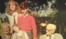 Priscilla dédszülei az unokákkal