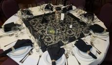 Szilveszteri asztali dekoráció