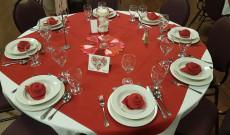 Valentin bál asztal dekor