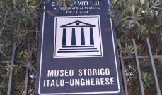 Olasz-Magyar Történelmi Múzeum táblája