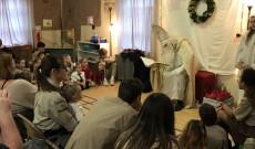 Szent Miklós és a gyerekek a garfieldi Bodnár Gábor Cserkészházban