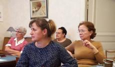Herzeghné Dr. Juhász Edit országos főgondnok (elöl)