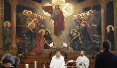 Szentmise a Collegium Pázmáneum kápolnájában - a kápolna, ahol annak idején Mindszenty bíboros is misézett