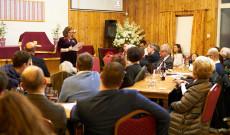 Norton Éva, a MAOSZ elnökének előadása (Fotó: Kelemen Lehel)