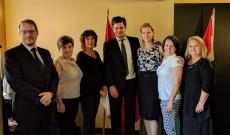 Dr. Ódor Bálint nagykövet látogatásakor Saskatoonban