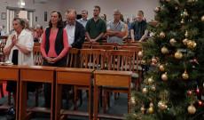Hívek Vízkereszt napján a misén