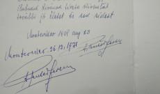 Puskás Ferenc bejegyzési az Uruguayi Magyar otthon vendégkönyvébe