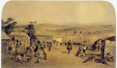 A Mount Alexander aranymező Castlemaine közelében, 1852 (Samuel Thomas Gill)