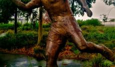 Puskás Ferenc szobra Melbourne-ben