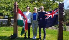KCSP-s ösztöndíjasoka christchurch-i Magyar Parkban
