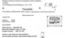 Magyar Kultúr Kör Disznótoros Vacsoraest