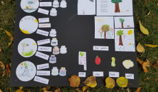 A gyerekek által készített őszi poszter
