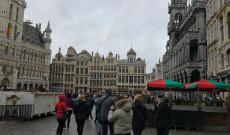 Vasárnap délután a Grand Place-on