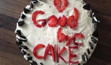 Búcsú torta új barátaimtól