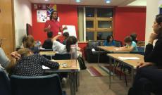 Igazi iskolai hangulatban a magyar órán