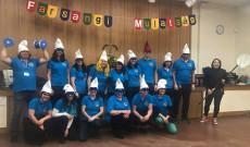 A farsangi a tanári csapat Wokingban