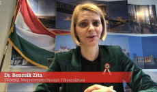Dr. Bencsik Zita főkonzul videóüzenet közben