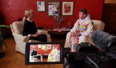 Élő interjú készítése közben
