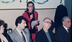 A Szent István Kör 30. évfordulója Redl Isabel beszédet tart
