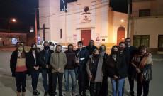 A Villa Angelában és a Du Graty-ban élő magyarokkal, 2020. augusztus 20-án, a Szent István tiszteletére bemutatott közös szentmise után