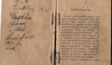 Csatlós János magyar nyelvű (református) imakönyve, bejegyzésével