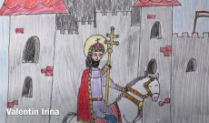A Buenos Aires-i Szent László Iskola egyik tanulójának rajza Szent Istvánról