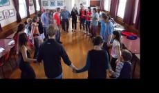 Néptánc tanítás a Christchurchi Magyar Klubban