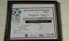 Futball elismerés a Magyar Klubnak
