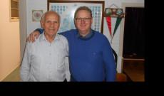 A régi elnök Tóth István és utóda Csik Tibor