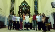 A Szent István templom gyülekezetével