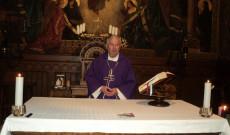 Kiss-Rigó László, a Szeged-Csanádi Egyházmegye megyéspüspöke december 3-án Bécsben a Pázmáneum kápolnájában