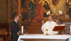 Mise Szent Márton tiszteletére Bécsben a Pázmáneumban, november 10-én. Fotó: Kalló Zoltán