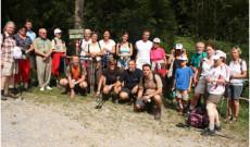 Csoportkép a gráci magyarok 2013. szeptemberi máriacelli gyalogzarándoklatán