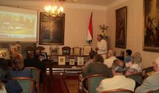 Az Ars Sacra Fesztivál keretében Molnár-C. Pál művészetéről tartott vetítettképes előadást Bécsben Csillag Péter, a művész unokája