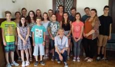 Innsbrucki magyar gimnazisták Antalóczy Izabella tanárnőjükkel