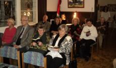 A hívek egy része 2016. december 18-án Innsbruckban a Magyar Házban