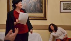 Varga Gabriella Kőrösi-ösztöndíjas a farsangi mulatságot székely humorral színesítette