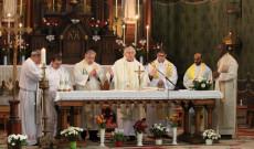 Az ausztriai csoport papjai a ditrói Jézus Szíve-templomban