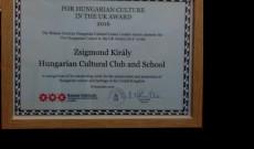 Magyar Kultúráért az Egyesült-Királyságban-Díj